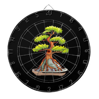 bonsai tree root over rock graphic dartboards