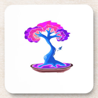 bonsai tree with shari graphic blue png beverage coasters