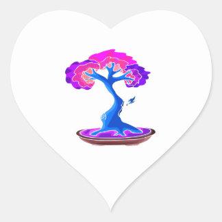 bonsai tree with shari graphic blue png sticker