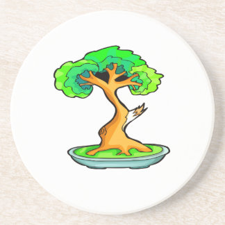 bonsai tree with shari graphic png coasters