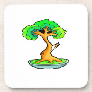 bonsai tree with shari graphic png coaster