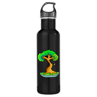 bonsai tree with shari graphic.png 24oz water bottle