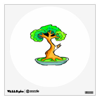 bonsai tree with shari graphic.png wall decal