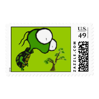 Bonsai Turtle Postage Stamps