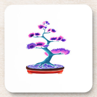 bonsai upright tree graphic blue png drink coasters