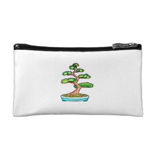 bonsai upright tree graphic green.png cosmetic bag