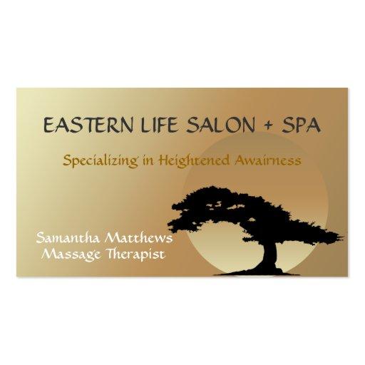 Bonsai Zen Massage Therapist Business Card