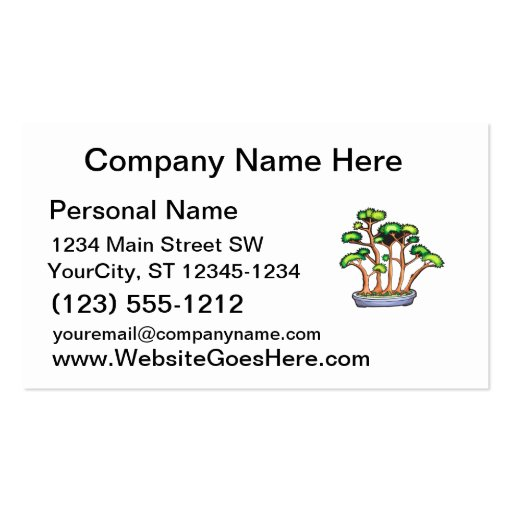 bonsais del bosque que plantan graphic.png tarjetas de visita