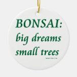 Bonsais, pequeño diseño de los árboles de los sueñ adorno de reyes