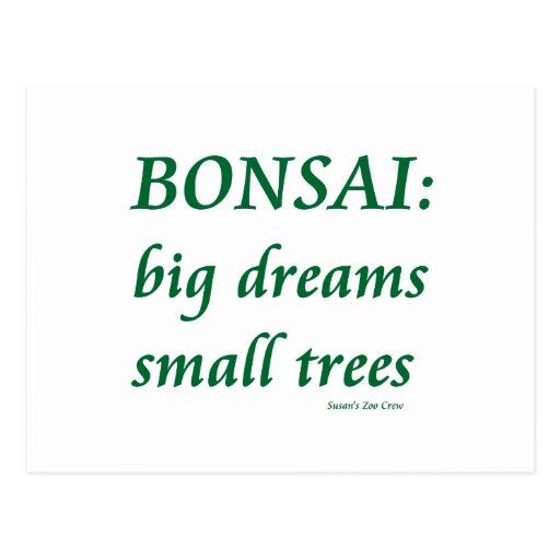Bonsais, pequeño diseño de los árboles de los sueñ postales