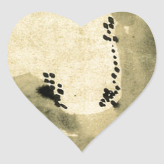 Bonseki by Hakuin Ekaku Heart Sticker