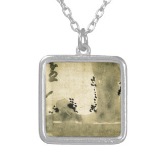 Bonseki by Hakuin Ekaku Square Pendant Necklace