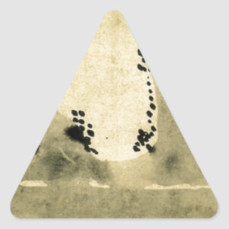 Bonseki by Hakuin Ekaku Triangle Sticker