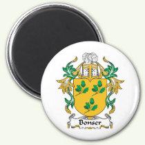 Bonser Family Crest Magnet