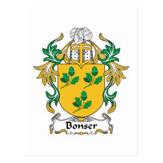 Bonser Family Crest Postcard