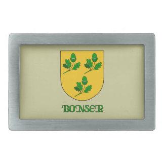 Bonser Family Shield Belt Buckle