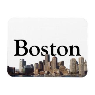 Bonston, MA Skyline with Boston in the Sky Rectangular Photo Magnet