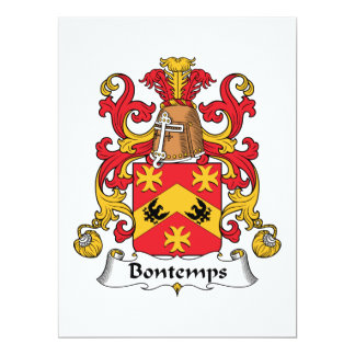 Bontemps Family Crest Custom Invitation