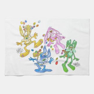 Bonucing bunnies.jpg hand towel