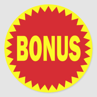 Bonus Retail Sales Sticker