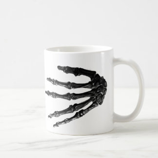 Bony hands coffee mug