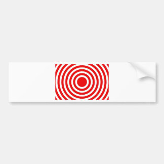 bonzai red circles bumper sticker