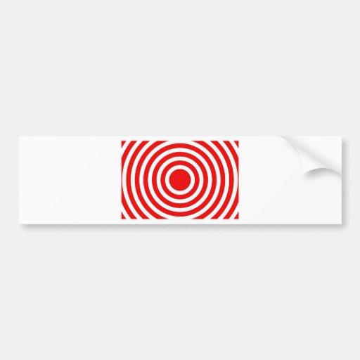bonzai red circles bumper sticker
