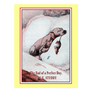 """""""Bonzo the Dog"""" in """"End of Day"""" Post Card"""