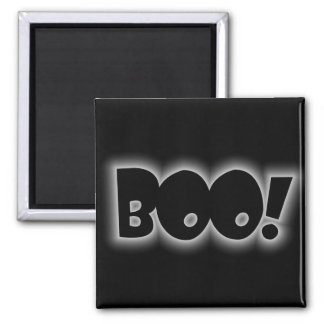 Boo! 2 Inch Square Magnet