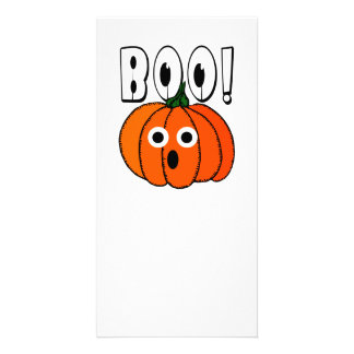 BOO A Spooked Pumpkin Customized Photo Card