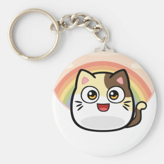 Boo as Cat Design Products Basic Round Button Keychain