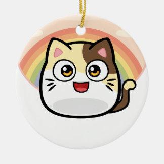 Boo as Cat Design Products Ceramic Ornament