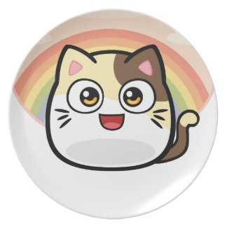 Boo as Cat Design Products Melamine Plate