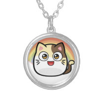 Boo as Cat Design Products Silver Plated Necklace