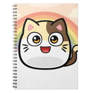 Boo as Cat Design Products Spiral Notebook