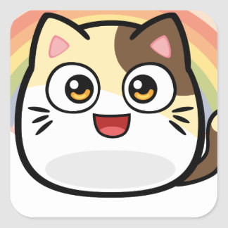 Boo as Cat Design Products Square Sticker