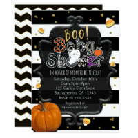BOO! Baby Shower Ghost Whimsical Halloween Invitation