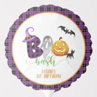 Boo Bash Birthday Balloon - Custom
