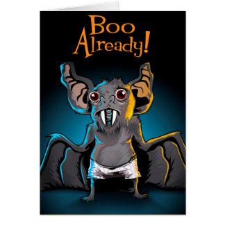 Boo Bat Greeting Card
