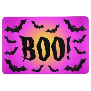 Halloween Themed BOO! Bats on Pink Floor Mat
