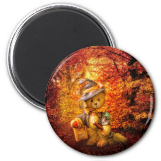 Boo Bear 2 Inch Round Magnet