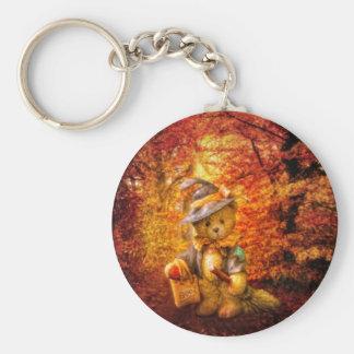 Boo Bear Basic Round Button Keychain