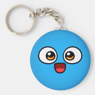 Boo Button Keychain