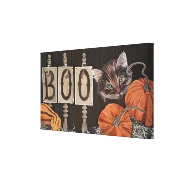 Halloween Themed BOO! CANVAS PRINT