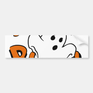 Boo - cartoon ghost - baby ghost - funny ghost bumper sticker