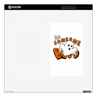 Boo - cartoon ghost - baby ghost - funny ghost decals for kindle fire