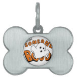 Boo - cartoon ghost - baby ghost - funny ghost pet tag