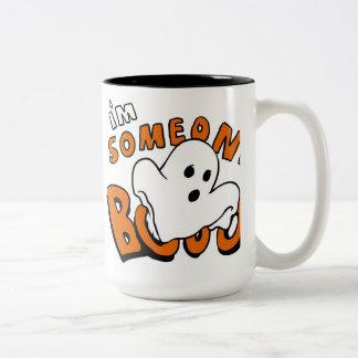 Boo - cartoon ghost - baby ghost - funny ghost Two-Tone coffee mug