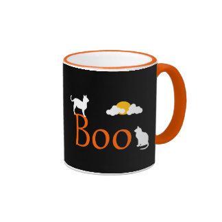 Boo Cat and Moon Halloween Mug