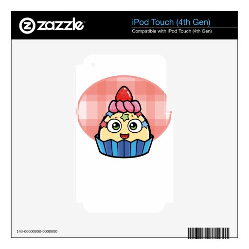 Boo Cupcake Products Skin For iPod Touch 4G